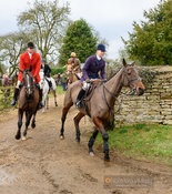 Kat Robinson leaving the meet. The Cottesmore Hunt at Wymondham 11/1