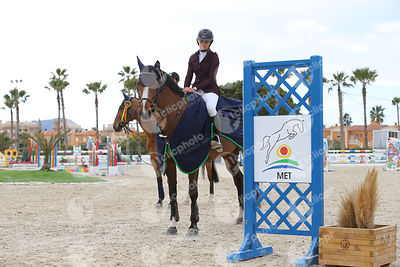 Oliva, Spain - 2020 March 1: Bronze tour 1m30 during CSI Mediterranean Equestrian Spring Tour 2.(photo: 1clicphoto)