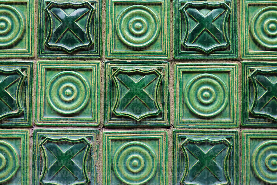Old green tiles