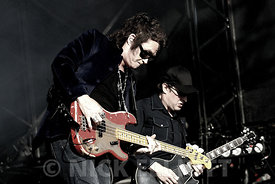 Glenn Hughes and Joe Bonamassa performing live with Black Country Communion at High Voltage July 2011