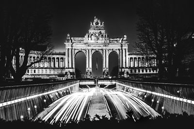 Cinquantenaire Park at night, Brussels