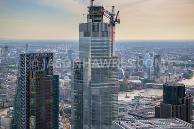 22 Bishopsgate, City of London, aerial view
