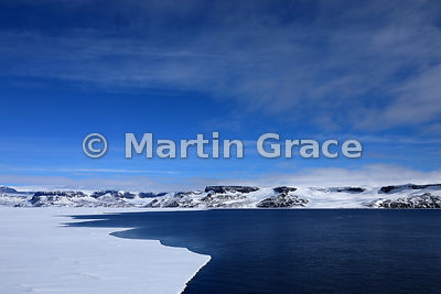 The edge of the sea ice at Latitude: S64°14.491', Longitude: W57°04.146' off Snow Hill Island, Antarctic Peninsula,  Antarctica