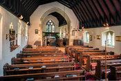 Interior of St Lawrence Church, Tubney, Oxfordshire, UK