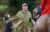 Andrew Osborne at the meet. The Cottesmore Hunt at Lowesby Grange Farm 14/1