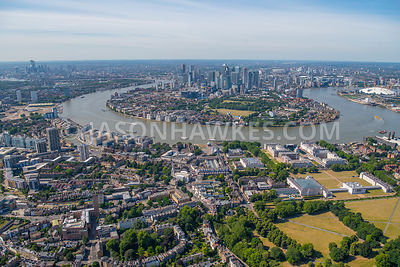 Greenwich, London  aerial view