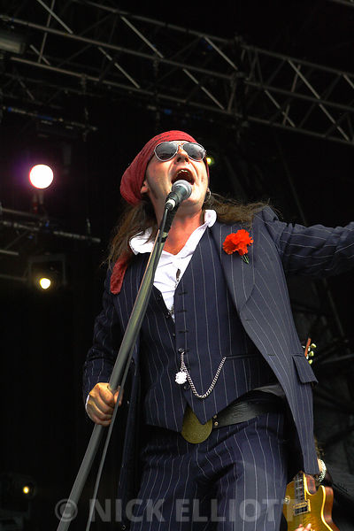 The Quireboys performing live 25 July 2010