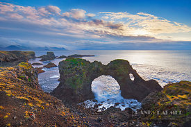 Cliff landscape at Gatklettur - Europe, Iceland, Western Region, Snaefellsness, Arnarstapi - digital