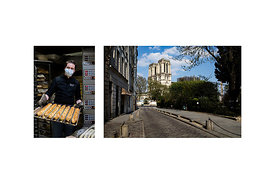 "Paris, France, April 27, 2020. David, artisan baker in the 17th arrondissement of Paris: ""With restaurant customers gone and ..."