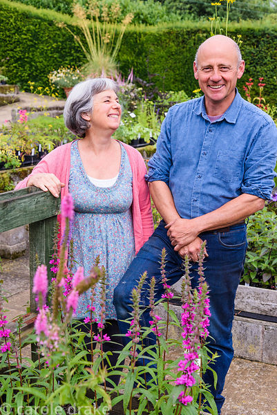 Kim and Stephen Rogers at Dove Cottage Nursery & Garden, Halifax, West Yorkshire
