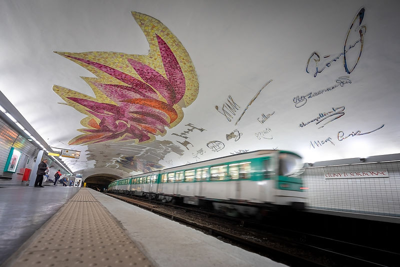 Winged metro - Cluny Sorbonne Station, Paris