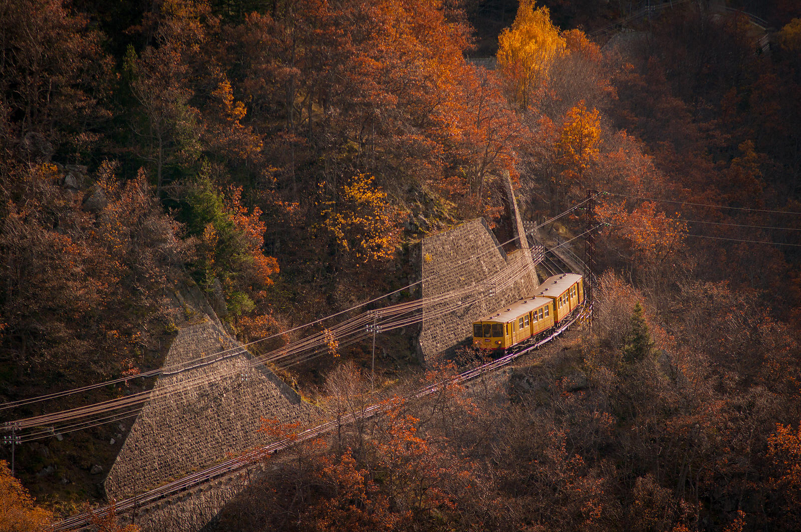 IGP6623: France, Pyrénées Orientales: The Train Jaune
