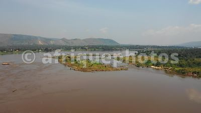 Ubangi river from above, CAR