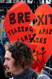 #124564,  Anti-Brexit march to Parliament Square, London, 23rd March 2019.  A million people of all ages marched demanding a ...
