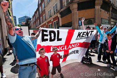 "EDL ""Patriot march on London to challenge Parliament"" Westminster, London 22/05/10."