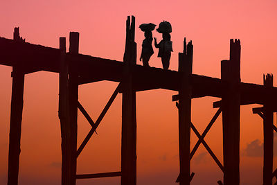 U Bein Bridge at Sunrise
