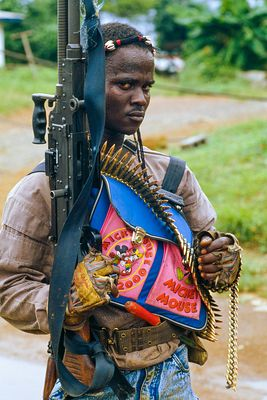 NPFL Rebel During Civil War in Liberia