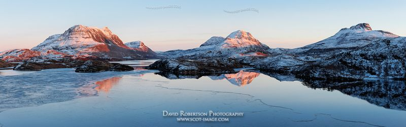 Image - Cul Mor, Cul Beag and Stac Pollaidh reflected in Loch Sionascaig, Inverpolly