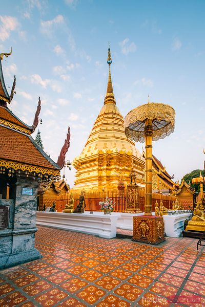 Main temple, Wat Phra That Doi Suthep, Chiang Mai, Thailand