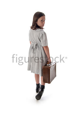 A 1940's child evacuee – shot from eye level.