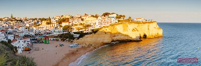 Carvoeiro panorama at sunset, Faro, Algarve, Portugal