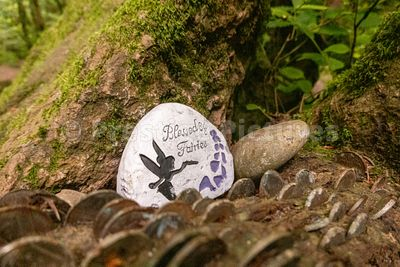 Blessed by the Fairies stone at Fairy Glen Falls, Inverness