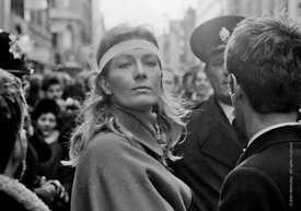 #70420,  Vanessa Redgrave leading the anti-Vietnam war demonstration from Trafalgar Sq to Grosvenor Sq Sunday 17th March 1968...