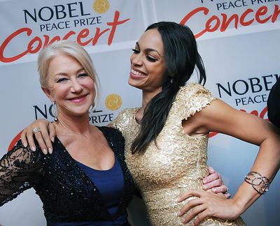 Helen Mirren and Rosario Dawson host the Nobel Peace Prize Concert at Oslo Spektrum