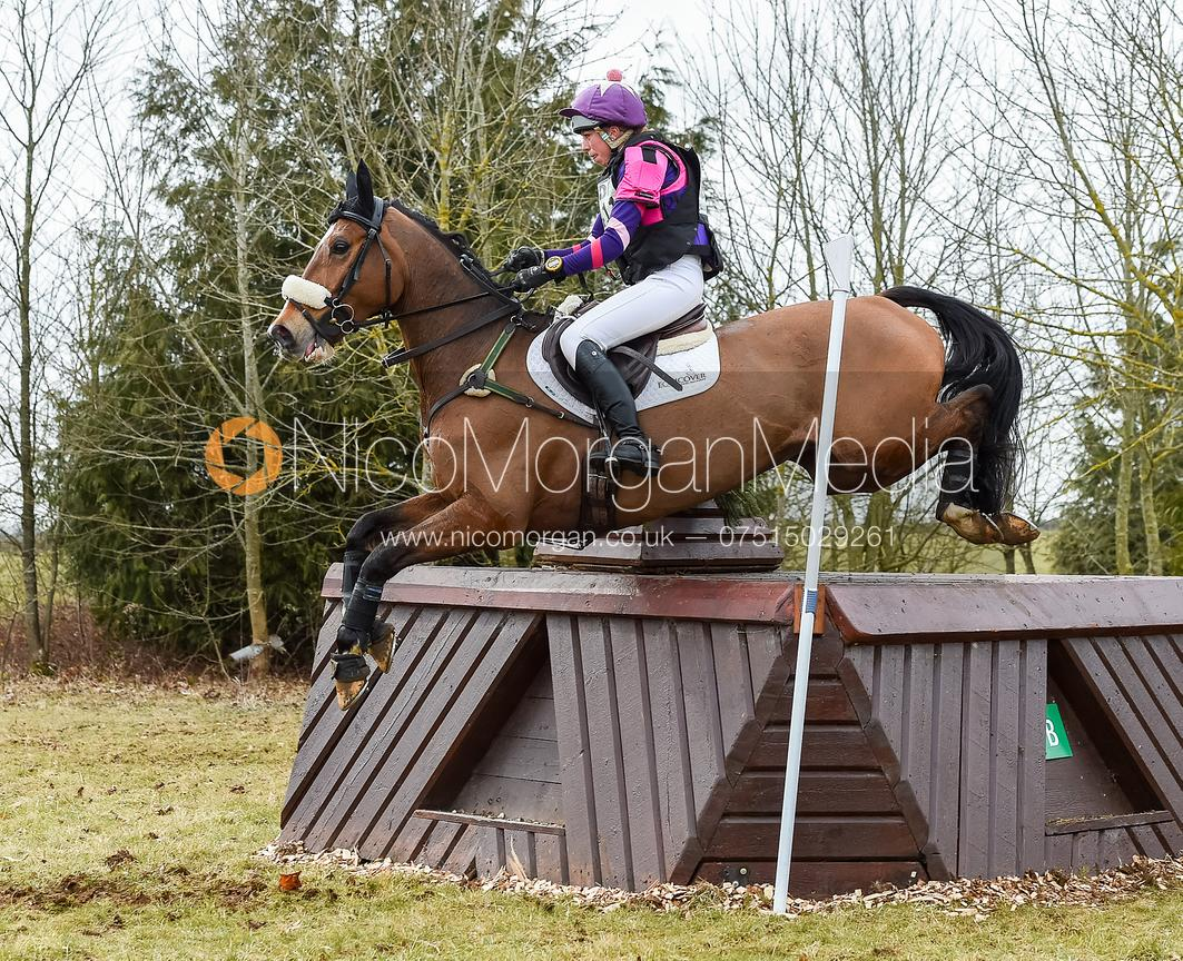 Ginny Howe and UNDALGO DE WINDSOR - Oasby Horse Trials, March 2018.