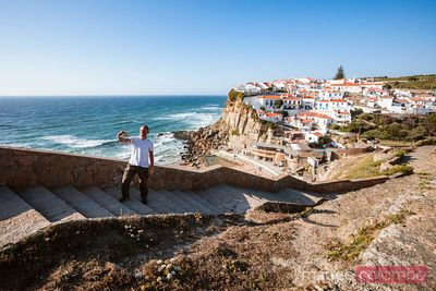 Man taking a selfie, Azenhas do Mar, Portugal