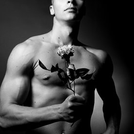 MEN AND FLOWERS
