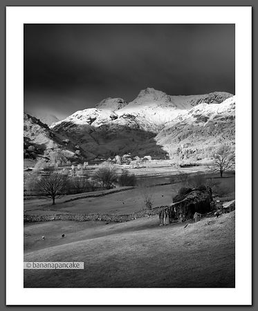 Winter light, Langdale Pikes.