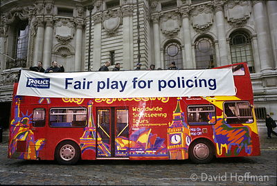 02031801-27 Police Pay Protest POLICE officers from across the country converged on London for a mass rally to protest at pro...