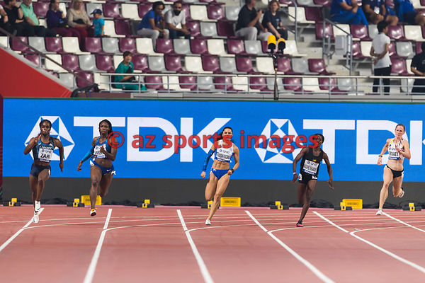 Women's 200 metres heats
