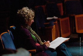 #72238,  The Director, Natasha  Betteridge, taking notes during the Dress Rehearsal for Shakespeare's, 'Macbeth', Rose Brufor...