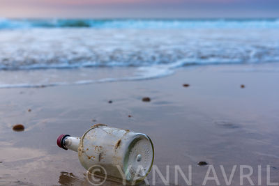 bottle in the sea