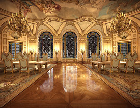 Gold Baroque Banquet Room