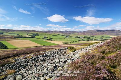 Image - View north from the White Cathertun, near Brechin, Angus, Scotland