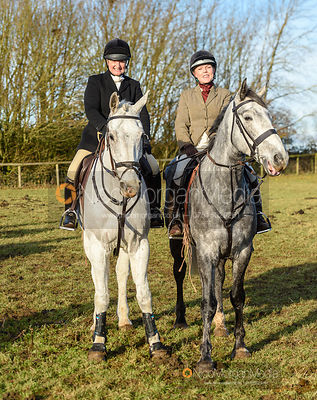 Georgie Mason at the meet. The Belvoir Hunt at Holwell 7/12
