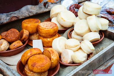 Portuguese cheese at the market, Portugal
