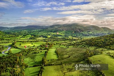 SEDBERGH 01A - Aerial view of Sedbergh and the Howgills