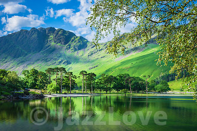 Idyllic scenery of English Lake District in springtime.