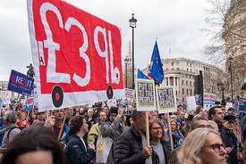 #124604,  Anti-Brexit march to Parliament Square, London, 23rd March 2019.  A million people of all ages marched demanding a ...