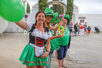 Women supporters from Ballmena Ireland dressed as leprachauns