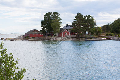 Pihlajasaari.|||Finnish archipelago photographed from beautiful Pihlajasaari island in which is located in front of city of H...