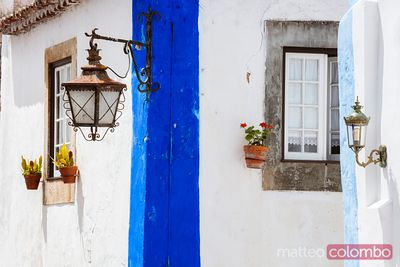 Architectural details in a small portuguese town, Portugal
