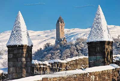 Image - Wallace Monument and Stirling Bridge in winter, Scotland