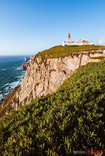 Lighthouse on the atlantic ocean, Cabo da Roca, Portugal