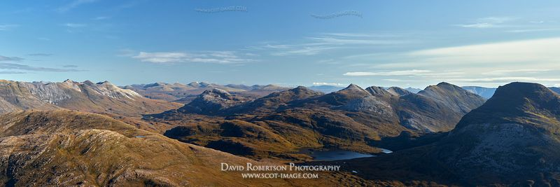 Image - Mounatin panorama viewed from Beinn Damh, Torridon, Wester Ross, Highland, Scotland