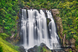 Waterfall  - Oceania, New Zealand, North Island, Waikato, Waitomo, Marokopa Falls (Polynesia) - digital